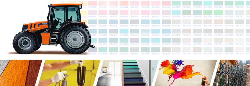 подбор и изготовление индустриальных красок